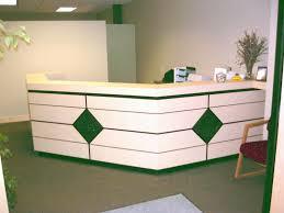 curved white reception desk modern beauty salon furniture