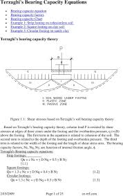 Soil Bearing Capacity Chart Terzaghis Bearing Capacity Equations Pdf Free Download