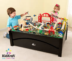 check out the kidkraft 17935 metropolis train table and set