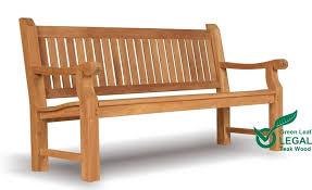 teak garden bench 4 seat heavy duty