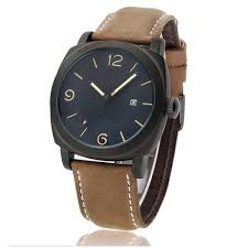 sport calendar mens watches military leather band quartz men wrist sport calendar mens watches military leather band quartz