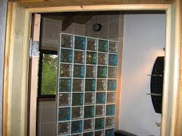 glass bock innovations colored glass block shower wall
