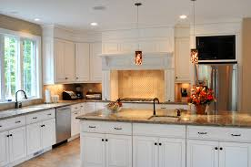 Beautiful White Kitchen Designs Kitchen Design With Beautiful Granite Countertops Tile And White