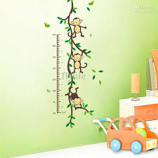 Small Picture Height Chart Wall Decals Naughty Monkey Cartoon Decor Stickers for