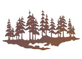 >20 pine tree forest metal wall art nature wall decor 20 pine tree forest metal wall art