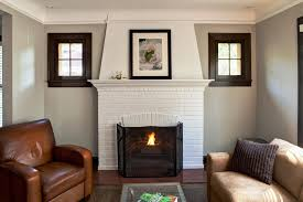 image of modern contemporary white brick fireplace decorating ideas