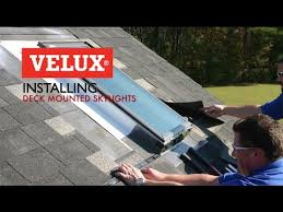 velux install video deck mounted skylights