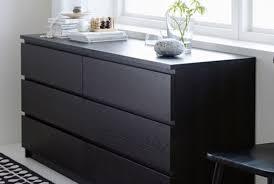 MALM 6 Drawer Dresser, Black Brown