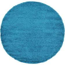 solid turquoise 6 ft round area rug
