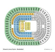 Edward Jones Dome Seating Chart Football The Dome At Americas Center St Louis Mo Seating Chart View