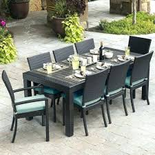 8 person square outdoor dining table room wonderful teak patio set with on