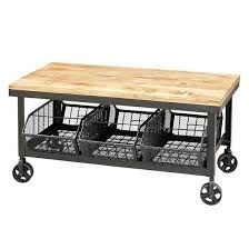 factory cart coffee table with storage atfuvf266