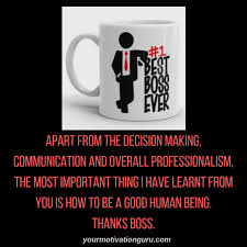 Thank You Message To Boss Top 10 Best Boss Appreciation Quotes And Thank You Messages
