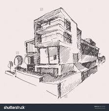 modern architectural drawings. Architect Clipart Modern Architecture. Hand Sketched Stock Vectors Architectural Drawings