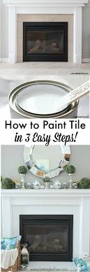 Tile Fireplace Makeover How To Paint Tile Easy Fireplace Paint Makeover Setting For Four