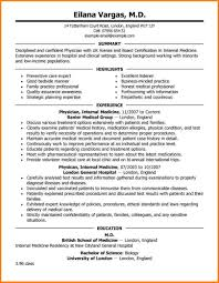 8 Doctor Resume Template Resume Cover Note