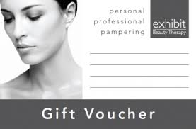 Gift Vouchers Exhibit Beauty Therapy
