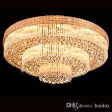pink chandelier lighting. New Design Royal Led Crystal Round Chandeliers Light K9 Pendant Chandelier Penthouse Ceiling Lamp Hotel Villa Project Candle Pink Lighting E