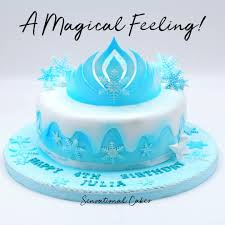 Frozen Tiara Girl Birthday Theme Cake Singaporecake Food Drinks