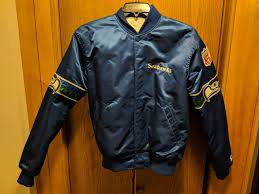 vintage seattle seahawks throwback jacket authentic starter brand large nfl