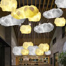 cloud lighting fixtures. Floating Cloud Droplight White Clouds Hanging Light Modern Cotton Pendant Lights Fixture Home Indoor Lighting E27 Lamp AC90 260V-in From Fixtures T