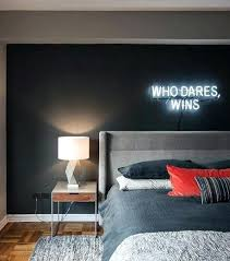 mens room ideas men bedroom ideas with neon sign wall decor man cave living room ideas