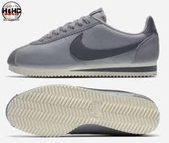 nike classic cortez leather 807471 017 grey smoke sail women s shoes sz 10