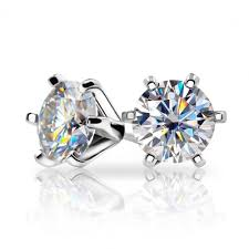 Gold Plated Silver Moissanite Earrings 2ctw (multiple moissanite color –  Moissanite Engagement Rings & Jewelry | Luxus Moissanite