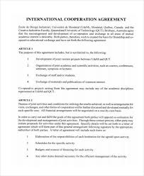 Agreement Templates Business Contract Template Cooperation Agreement Template Contract Business Cooperation