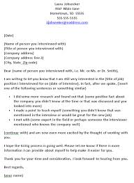 job interview template template for a follow up note letter or email after a job