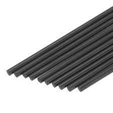 <b>10Pcs</b>/Set 400mm <b>Round Carbon</b> Fiber Rods Roll Bars Wrapped ...