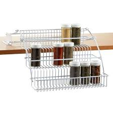 Rubbermaid Coated Wire In Cabinet Spice Rack Stunning Rubbermaid PullDown Spice Rack Container Store Organizing And