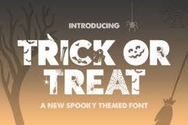 In this section you will find gothic, shabby, scary and even font made of the bones. Trick Or Treat Font By Salt Pepper Designs Creative Fabrica In 2020 Halloween Fonts Halloween Fonts Alphabet Cool Fonts