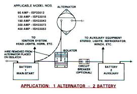 battery isolators e marine systems 1 alternator 2 battery