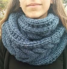 Knit Infinity Scarf Pattern Interesting Ravelry Cable Knit Infinity Scarf Pattern By Stephanie Miller