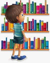 cartoon ilrator vector material bookshelf boys cartoon boy cartoon bookshelf cartoon ilration png
