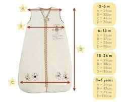 Size Chart Baby Sleeping Bag Baby Sewing Baby Pillows