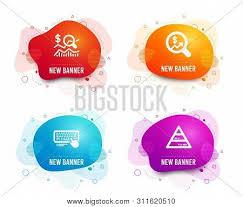 Investment Pyramid Chart Liquid Badges Set Vector Photo Free Trial Bigstock