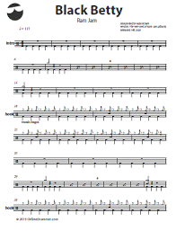 drum set sheet music destiny i think you could rock this on the drums black betty