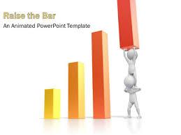 Teamwork Raise Bar Graph A Powerpoint Template From