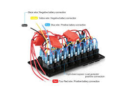 digital 12v 24v switch panel 8 gang waterproof dual usb charger wiring marine switch panel with pictures at 12v Switch Panel Wiring Diagram