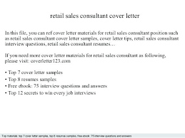 Sales Resume Cover Letter Examples Cover Letter Examples For Retail