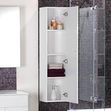 Bathroom High Cabinet Bathroom Appealing White Corner Wall Cabinets For Bathroom