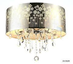 drum light chandelier dining room modern led re crystal ceiling lamp fixture lighting diy