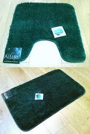 2 piece set plain supersoft bathroom dark green bath mat