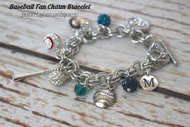 diy baseball fan charm bracelet awesome gift idea for that baseball lover