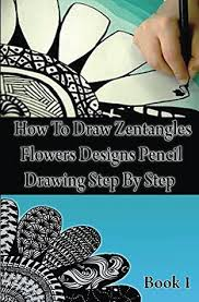 how to draw zentangle flowers designs
