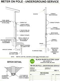 wiring specifications black river electric cooperative meter on pole underground service