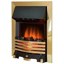 royal cozy brass 4 bar electric fire with remote control