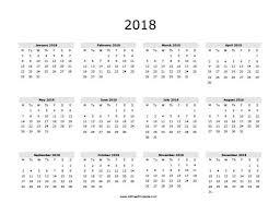 2018 calendar printable templates calendar office